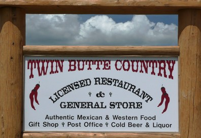 Twin Butte store sign