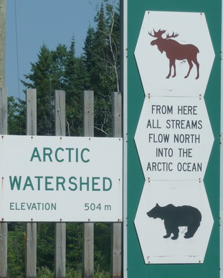 The Arctic watershed boundary
