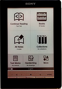 The Sony PRS-600 eBook reader